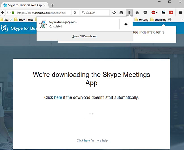 Skype4B Meeting Experience