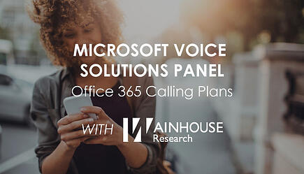On Demand - Microsoft Voice Solutions Panel