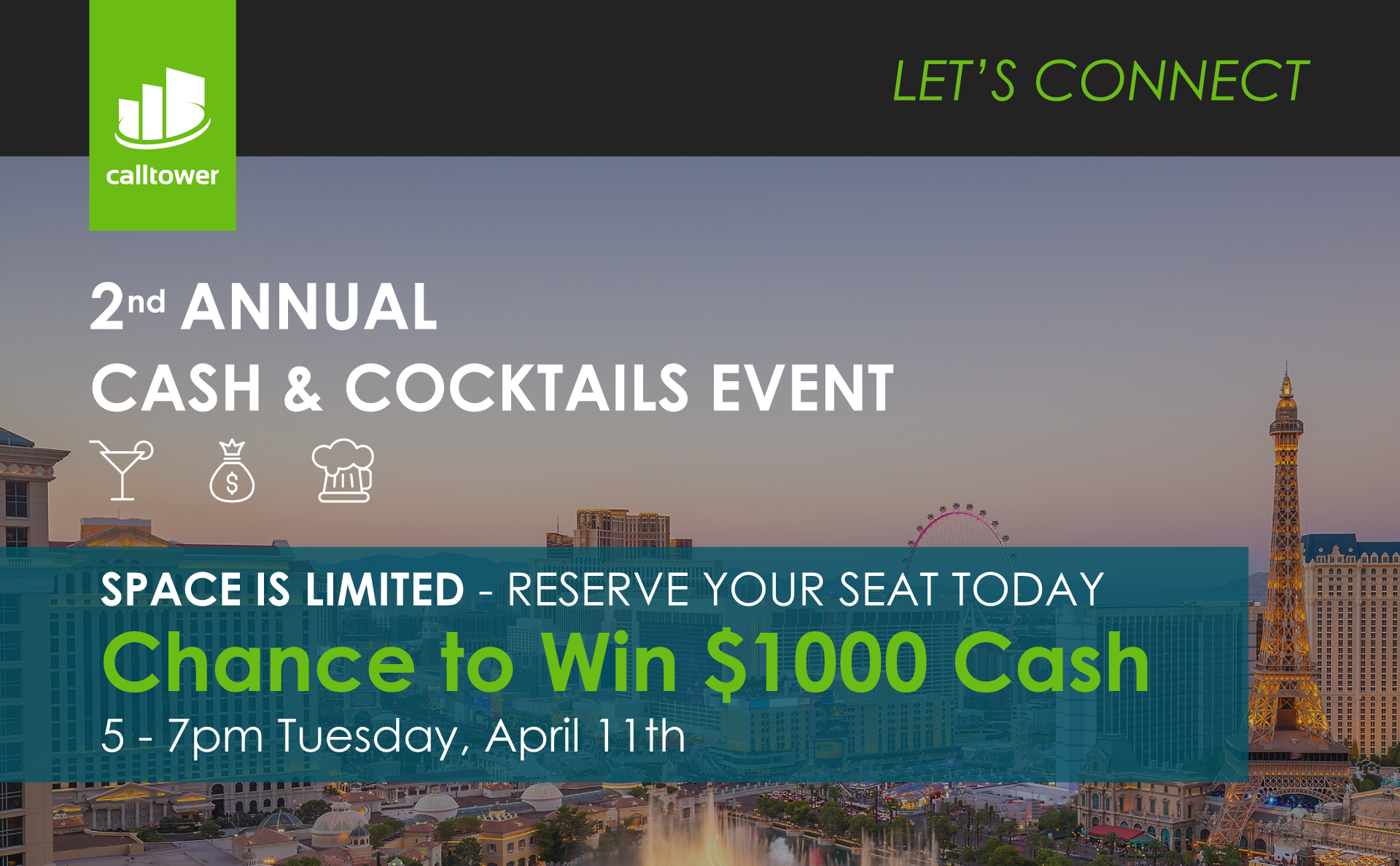 We're giving away cash & cocktails