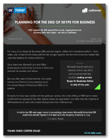 Planning for the End of Skype for Business