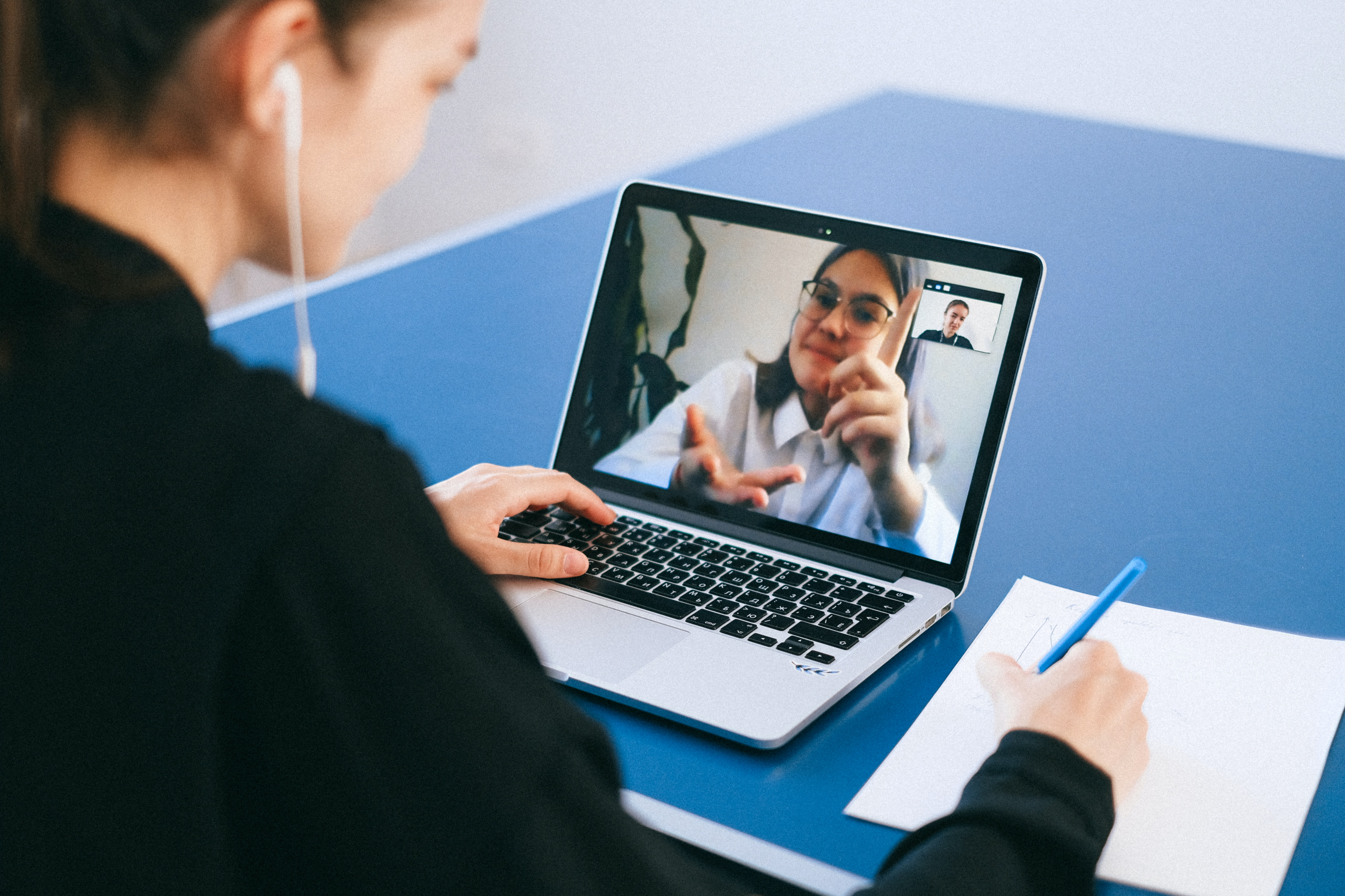 video meeting collaboration laptop meeting remote