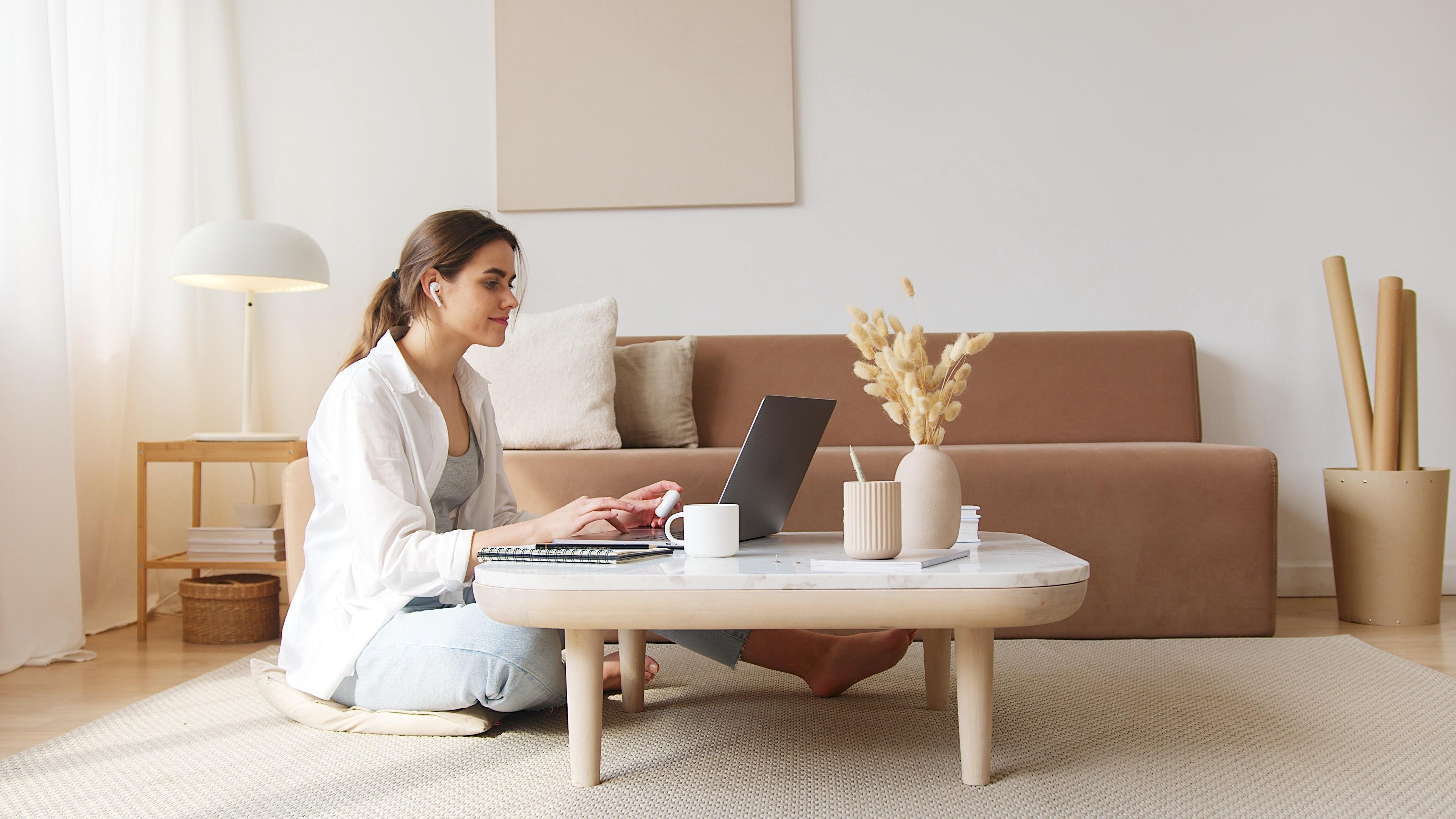microsoft teams updates woman working laptop
