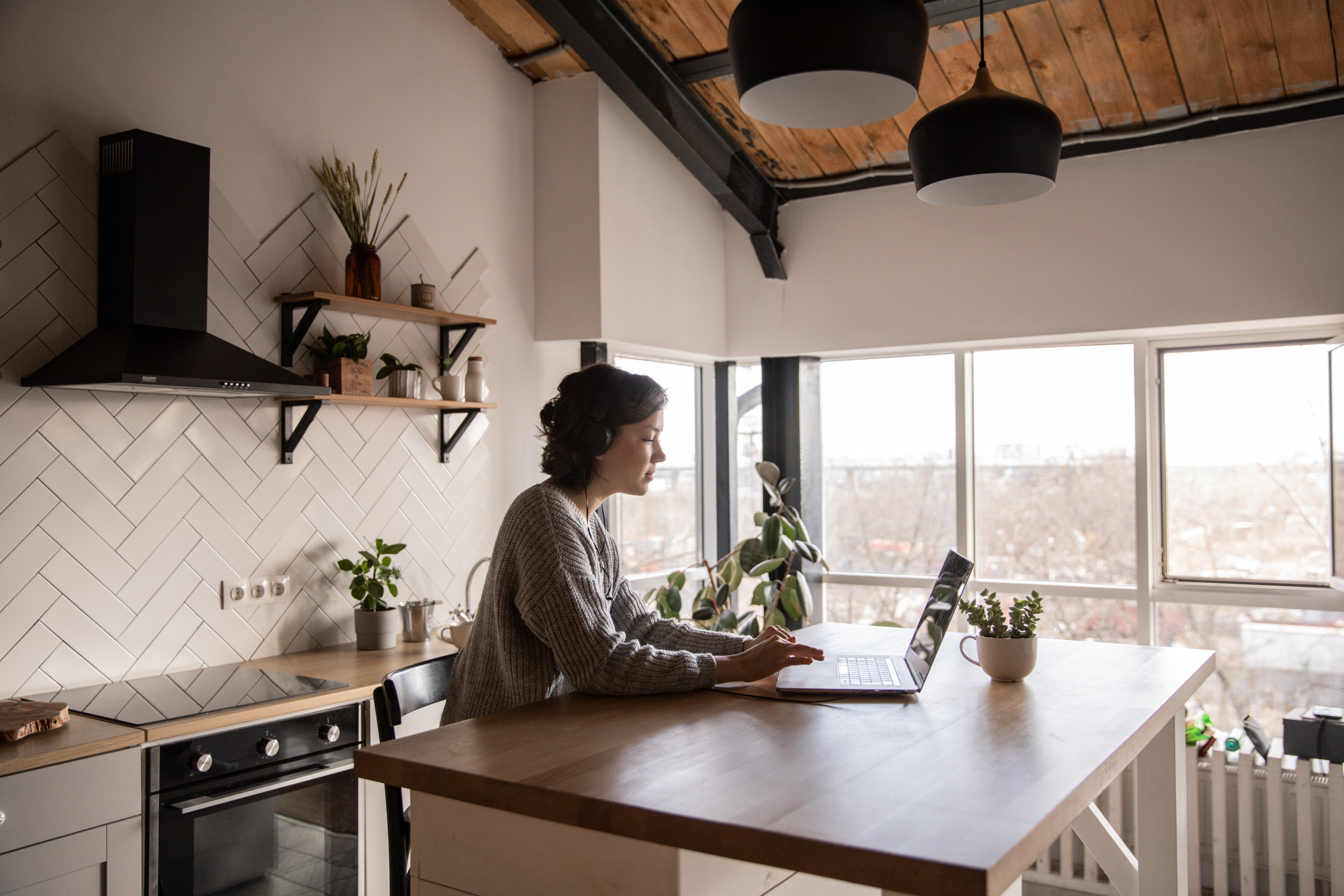 remote work communication lessons learned laptop woman