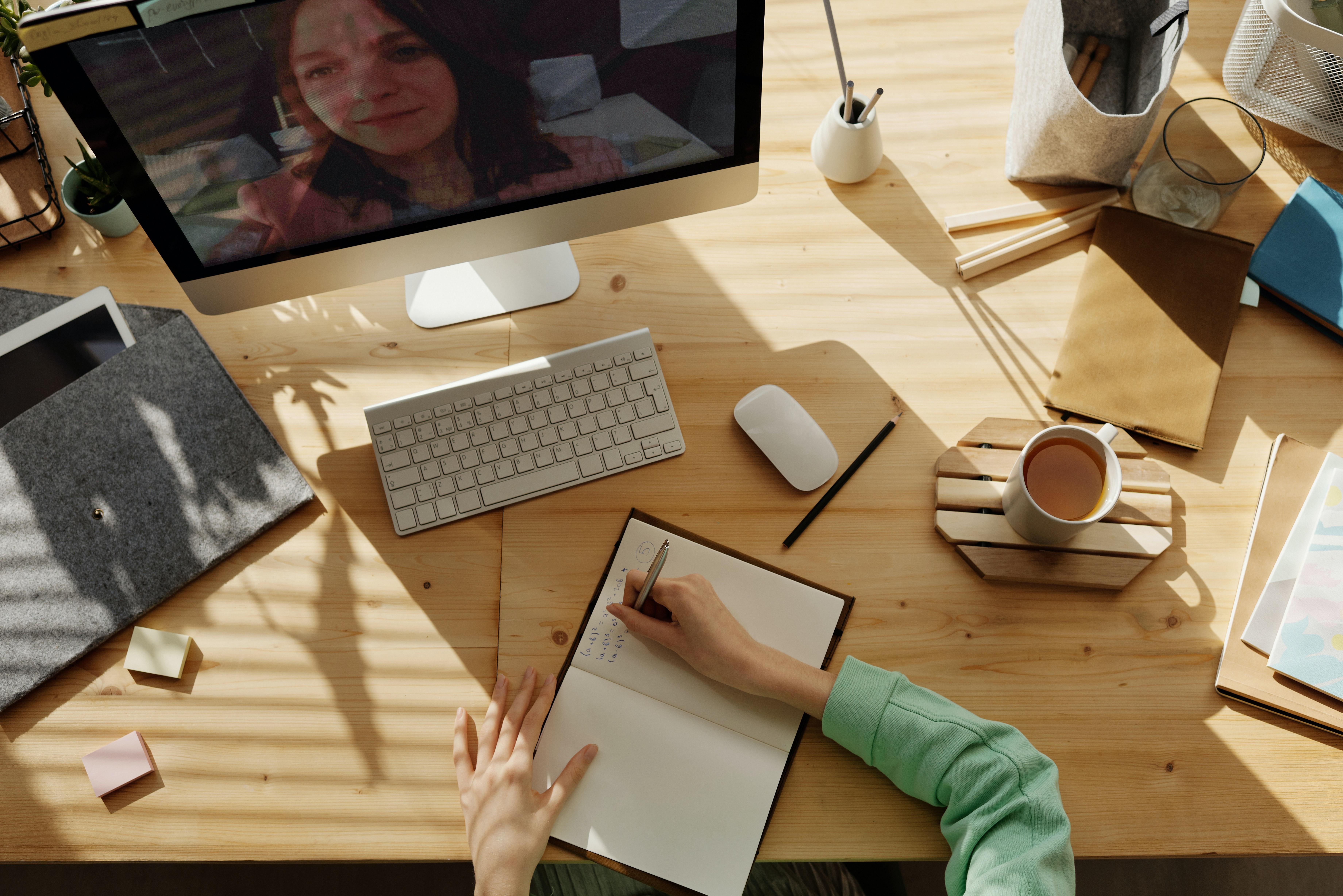 microsoft teams meetings tips work from home desk computer