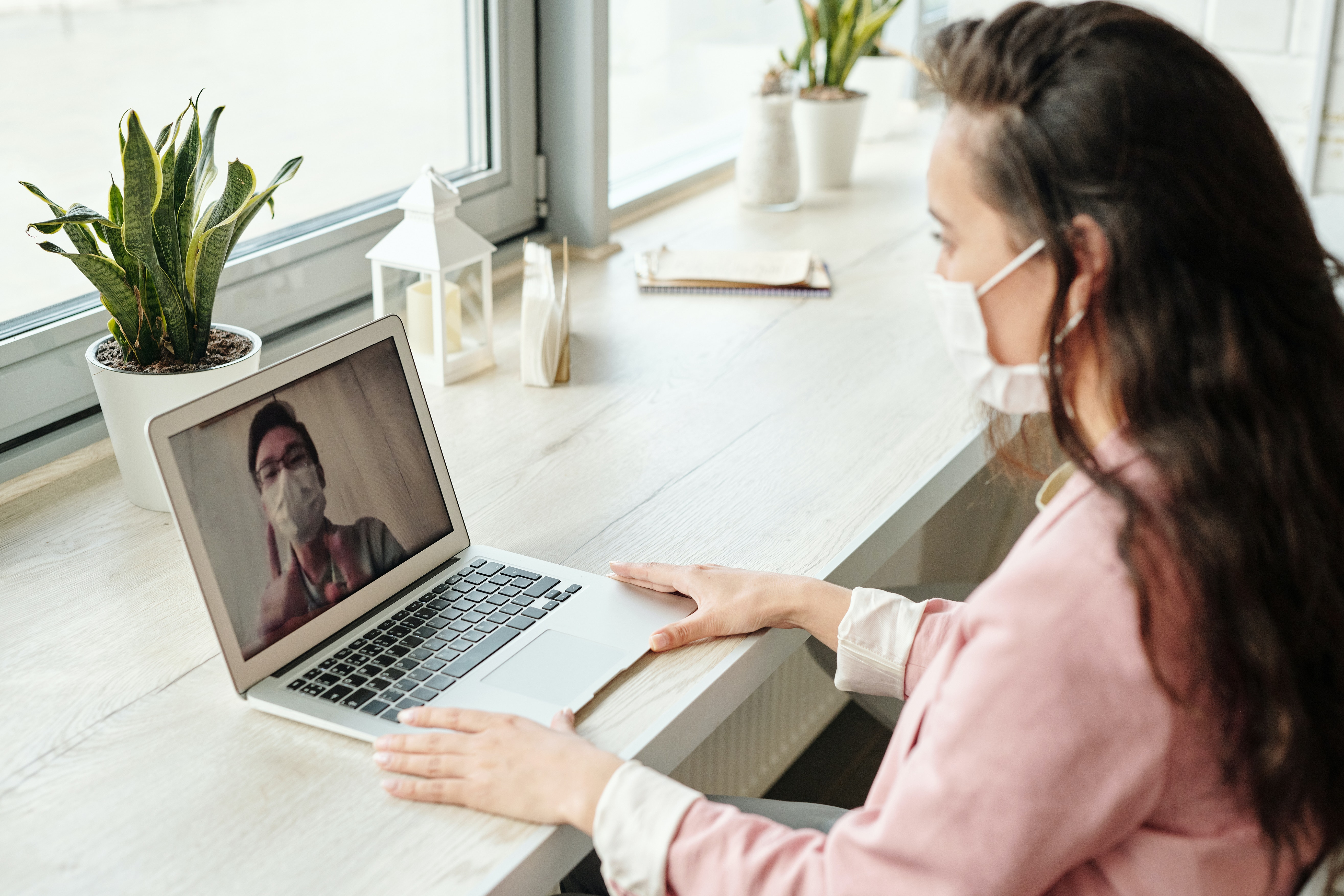useful technologies remote workers mask woman laptop